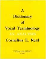 A Dictionary of Vocal Terminology (20560)