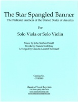 The Star Spangled Banner arranged for Solo Viola or Solo Violin (5055)