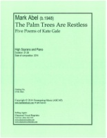 The Palm Trees are Restless - Five Poems of Kate Gale - High Soprano (5061)