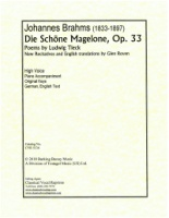 Die Schoene Magelone, Op. 33 Complete with composed recitatives by Glen Roven (2018) English-German (5136)