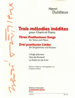 Trois melodies inedites - Three Posthumous Songs (Bass clef) Edited Le Roux (AL30744)