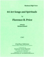 44 Art Songs and Spirituals by Florence B. Price for Medium/High Voice and Piano, (Richard Heard) (CN87)