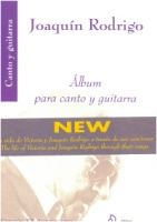 Album para canto y guitarra - Joaquin Rodrigo - Songs for voice and guitar (EJR190205)