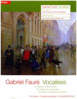 Gabriel Faure 45 Vocalises for Voice and Piano (EP11385)