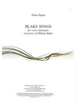 Blake Songs by Daron Hagen (Hagen 4)