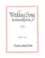 Wedding Song by Heinrich Schutz - High Voice - G minor (VOS511H)