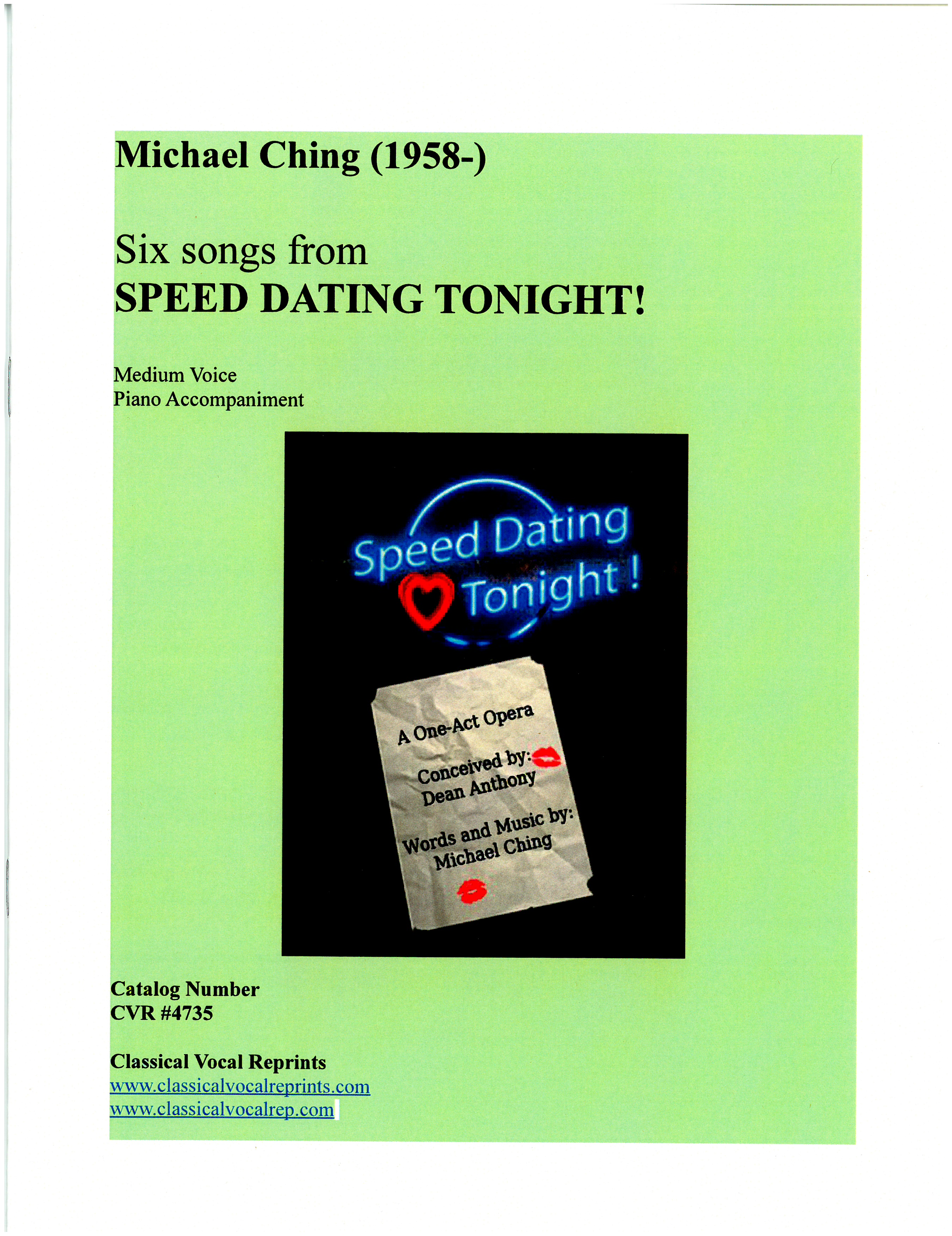 Speed dating michael ching