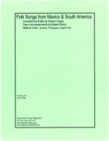 Folk Songs from Mexico and South America (Hague/Kilenyi)s.e. (2948)