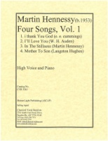 Four Songs Vol.1 (e.e.cummings Auden Hennessy L. Hughes) (3261)