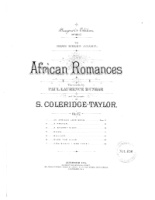 African Romances Op. 17 (7 Poems of Paul Laurence Dunbar) (4193)