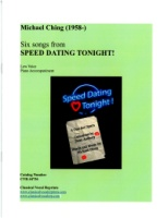 Six Songs from Speed Dating Tonight! Low Voice (4736)