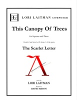 Scarlet Letter Hester This Canopy of Trees (Revised 2018) (5116)
