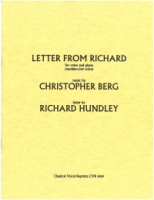 Letter from Richard (letter by Richard Hundley) (Medium-Low Voice) (9039)