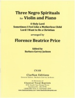 3 Negro Spirituals for Violin and Piano (CN108)