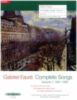 Gabriel Faure Complete Songs Volume 1 (34 Songs) High Voice (EP11391a)