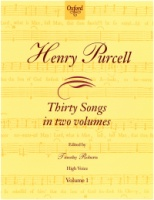 Henry Purcell Thirty Songs in two Volumes - Volume 1 High Voice (ISBN 0-19-345710-5)