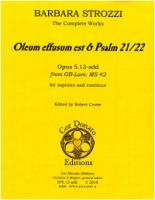 Barbara Strozzi - Complete Works : Opus 5.13-add Oleum (ST5.13-add)